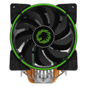 Кулер ЦПУ GameMax Gamma 500 Green (LGA115x/AMx/FMx, 4pin, 16,5-30,8dB, 800-1500RPM, Al+Cu, 187W)