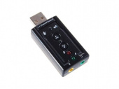 Звуковая карта USB TRUA71 (C-Media 8С V) ASIA 2.0 channel out 44-48KHz volume control (7.1 virtual channel) oem