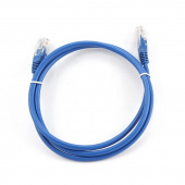 Кабель Patch Cord RJ45, UTP, Cat-5e, PVC, 1.5м, синий PP12-1.5M/B