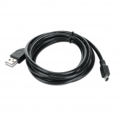 Кабель USB A-miniB (5pin) 1.8м (для фото, телефонов:), экран., черный, USB 2.0 (CCP-USB2-AM5P-6)