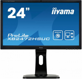 "Монитор Iiyama 23.6"" XB2472HSUC-B1 черный 1920x1080, VA, 8ms, 250cd, 178°/178°, DVI, M/M, Cam, HAS Pivot, D-Sub, DisplayPort, USB"