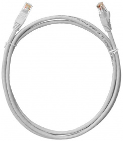 Кабель Patch Cord RJ45, UTP, Cat-5e, PVC, 1,5m, серый NETLAN EC-PC4UD55B-015-GY