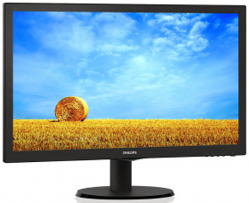 "Монитор Philips 21.5"" 223V5LSB2 (10/62) черный 1920x1080, TN, 5ms, 200cd, 600:1, 90°/65°, D-Sub"