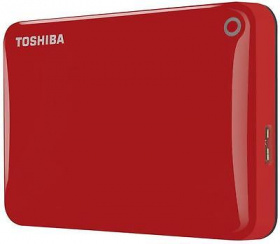 "Жесткий диск Toshiba USB 3.0 3Tb HDTC830ER3CA Canvio Connect II 2.5"" красный"