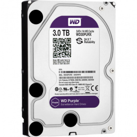 Жесткий диск S-ATA III 3Tb 5400, 64Mb, WD30PURX, WD Purple Video