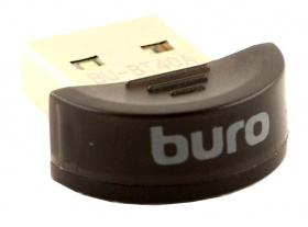 Адаптер Bluetooth Buro BU-BT40A Bluetooth 4.0+EDR class 1.5 20м черный