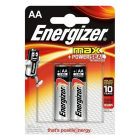 Батарейка Energizer MAX+Power Seal LR6 BL2 AA (2шт. уп)