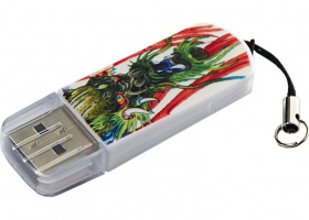 Флэшка 32Gb USB 2.0 Verbatim Mini Tattoo, Дракон