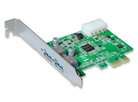 Контроллер USB 3.0 ViPowER, 2xUSB 3.0 PCI Express Host Card