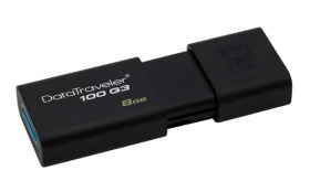 Флэшка 8Gb USB 3.0 Kingston DT100 G3, черная